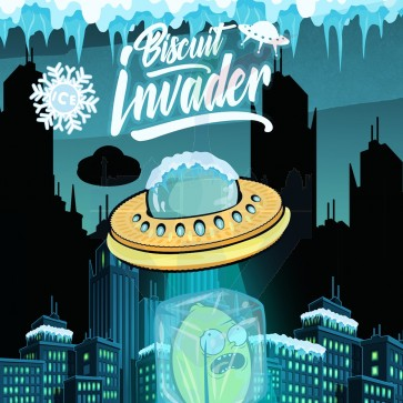 Aroma Concentrato Biscuit Invader ICE 20ml Grande Formato - Shake 'N' Vape