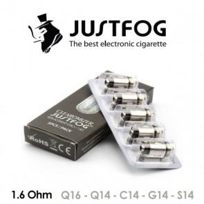 Testine Coil 1,6 ohm per C14 / G14 / S14 /Q14 /Q16 / P16a Confezione da 5 Pezzi - Justfog