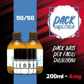 Pack Base 250ml 50/50 4mg - Basita