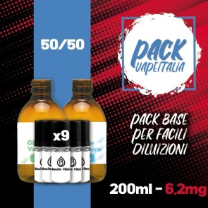 Pack Base 290ml 50/50 6,2mg - Basita