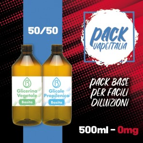 Pack Base 500ml 50/50 0mg - Basita