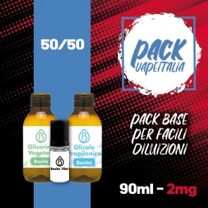 Pack Base 90ml 50/50 2mg - Basita