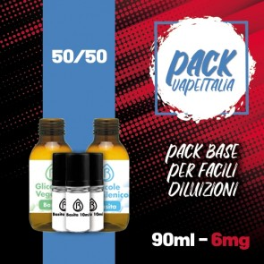 Pack Base 90ml 50/50 6mg - Basita