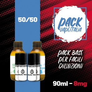 Pack Base 90ml 50/50 8mg - Basita