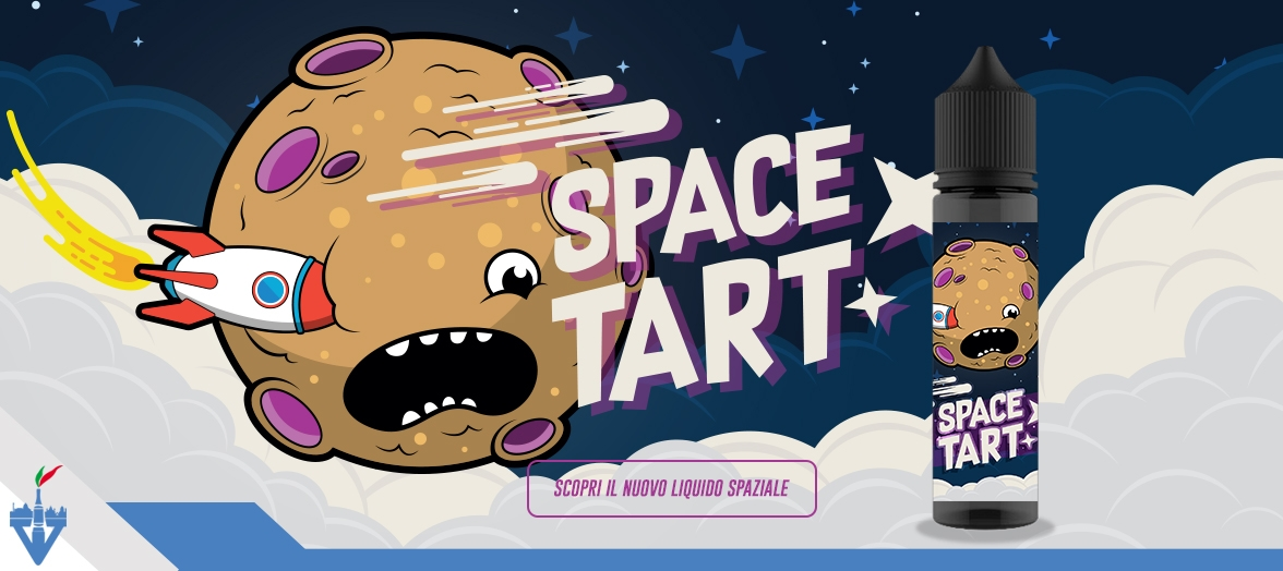 vapeitalia space tart shake'n'vape aroma concentrato 20ml scomposto