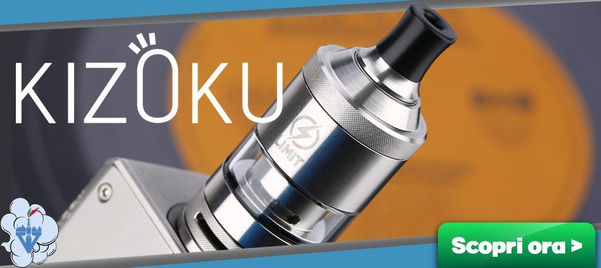 kizoku limit atomizzatore tank serbatoio rigenerabile a testine sigaretta elettronica box vapeitalia