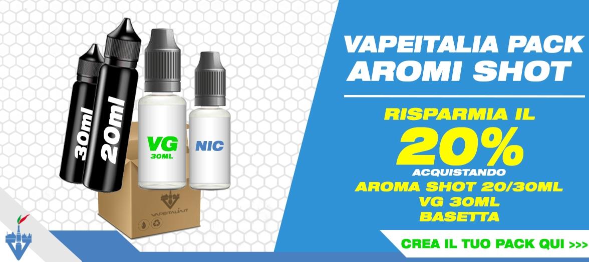 vapeitalia pack aromi scomposti shot grande formato sconto 20%