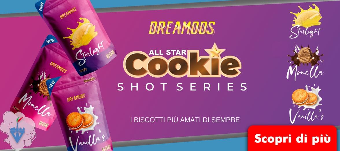 dreamods cookie all star shot series biscotto starlight monella vanillas aromi scomposti 20ml negozio online vapeitalia